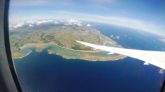 飛行機から見る島