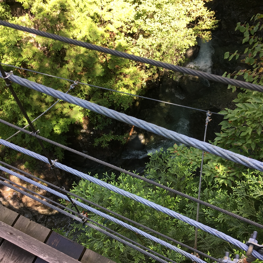 付知峡 吊り橋