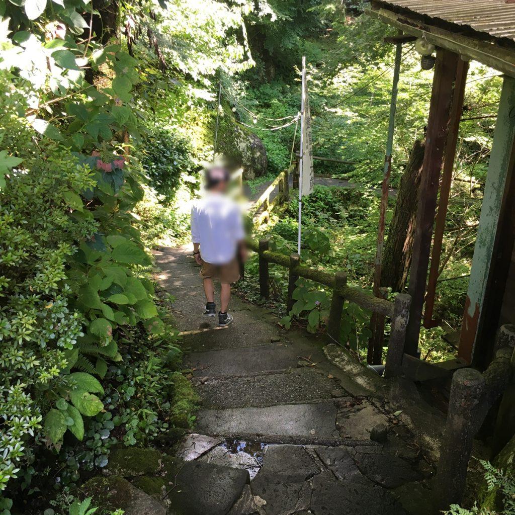 付知峡 滝 吊り橋 入口