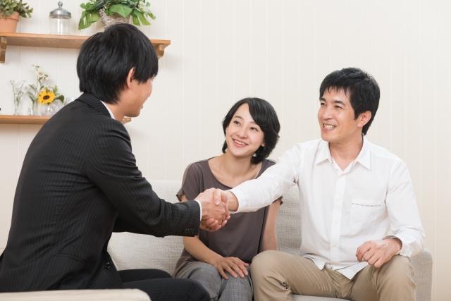 商談成立 夫婦 男性 女性