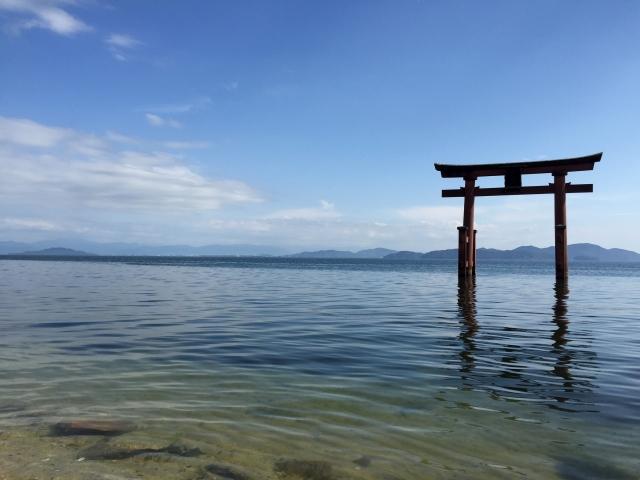 海の中の白髭神社