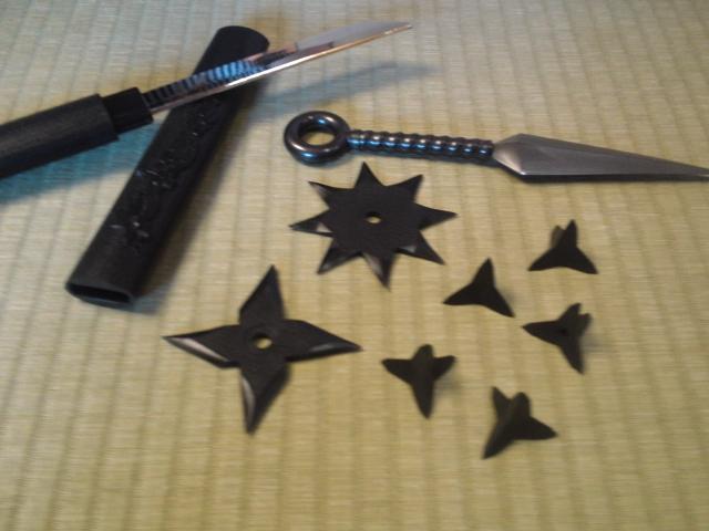手裏剣など忍者道具