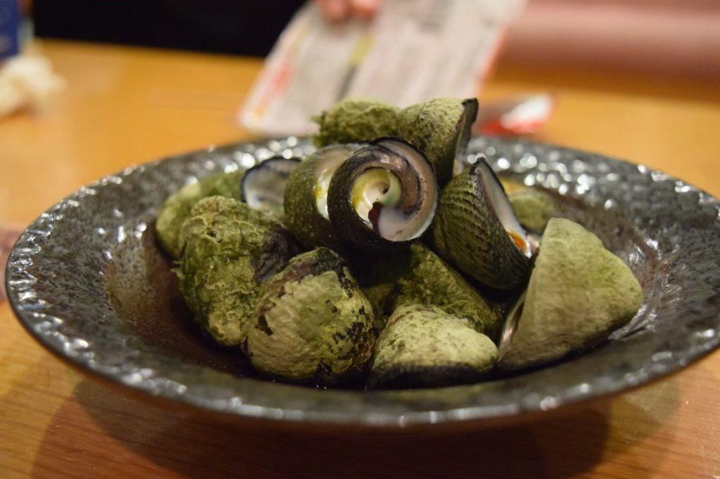 御蔵島の貝料理