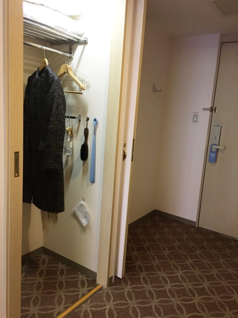 ホテルオークラ神戸 クローゼット