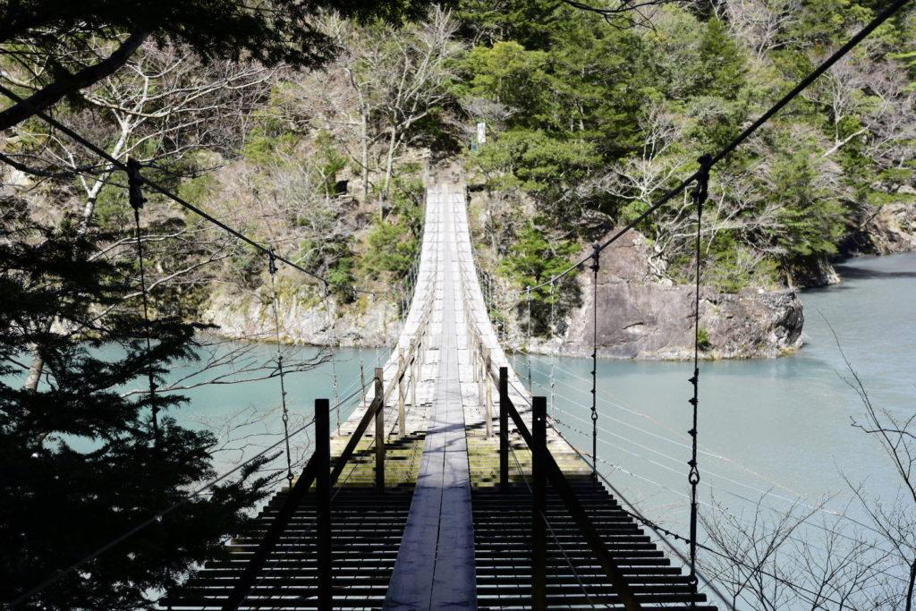 誰もいない寸又峡 夢の吊り橋