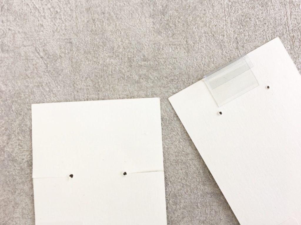 プラフックを貼った台紙